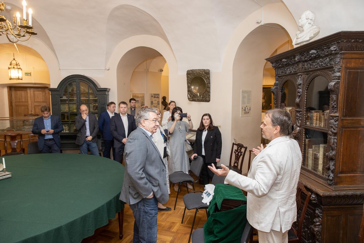 Делегация СПбПУ во главе с ректором Андреем РУДСКИМ посетила МАЭ им. Петра Великого РАН