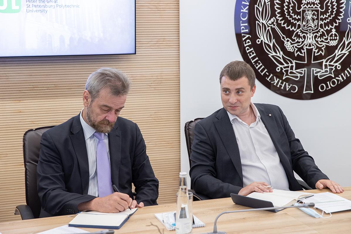 На прошедших переговорах были представлены основные направления научной деятельности СПбПУ