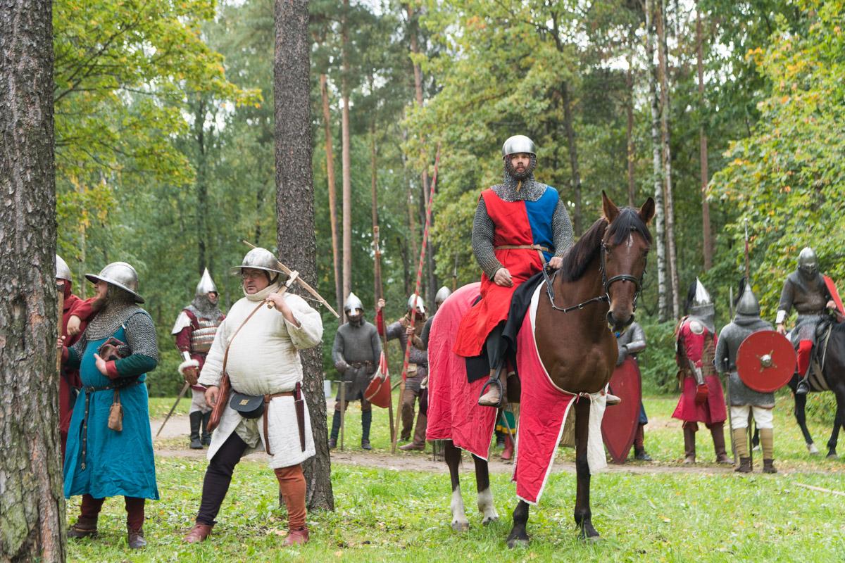 В парке Политеха устроили реконструкцию Невской битвы