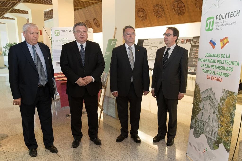 Дни СПбПУ в Мадридском политехническом университете были ознаменованы и открытием комплексной выставки Петербургского Политеха
