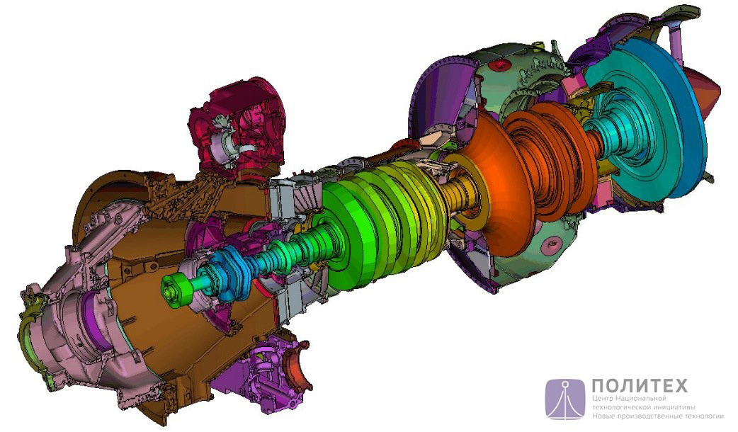 На основе технологии разработки цифрового двойника по заказу «ОДК-Климов» выполнен проект по снижению массы двигателя