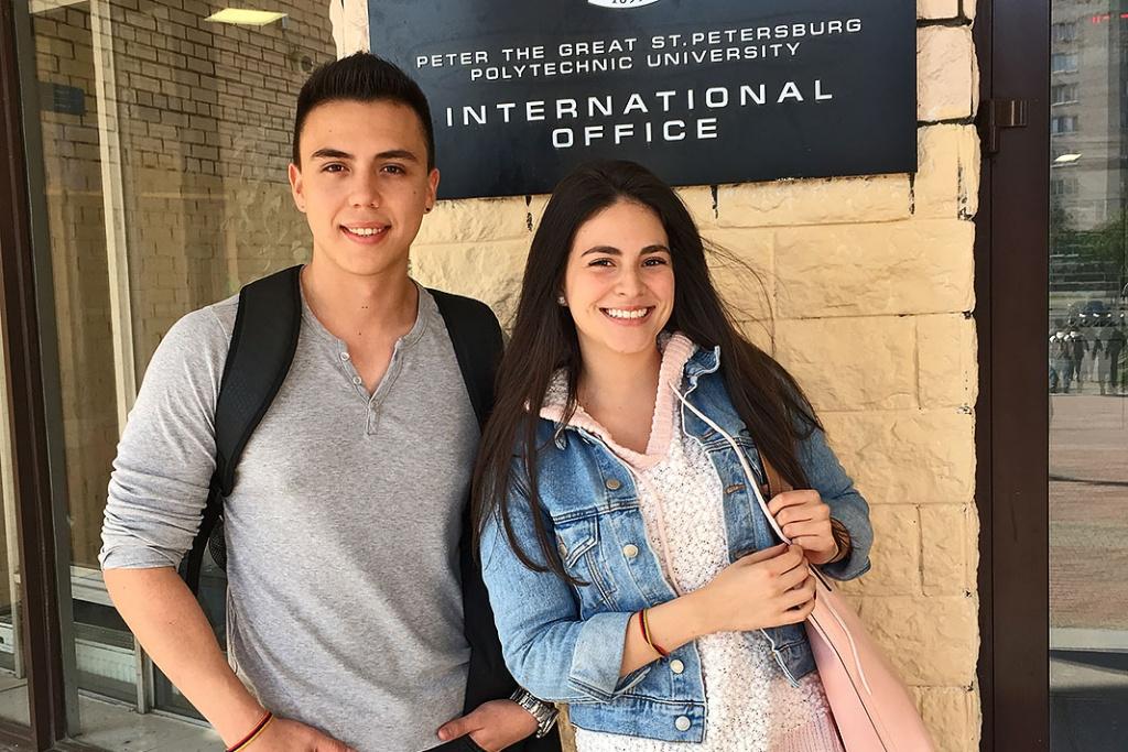 Эвилин РУЗ и Дэвид АВИЛА планируют изучать международный бизнес в СПбПУ