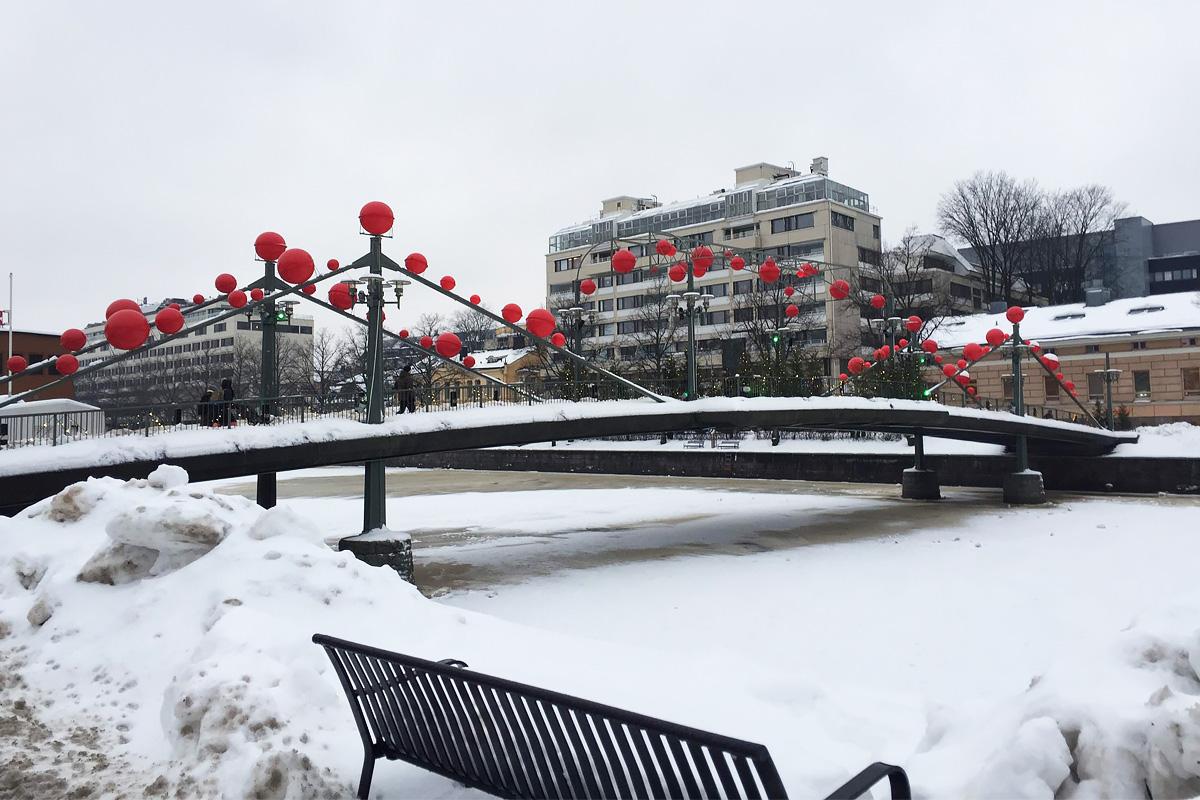 В свободное время студентка СПбПУ изучает достопримечательности города Турку