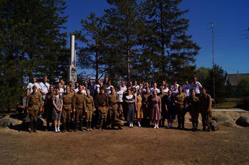 Участники Межвузовского военно-патриотического слета Сяндеба-2016