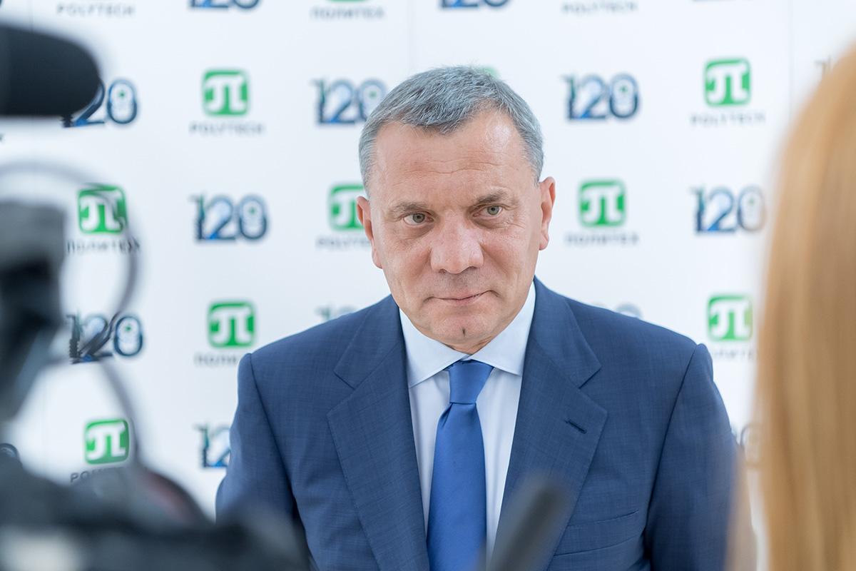 В интервью Юрий Борисов подвел итоги визита в Политех