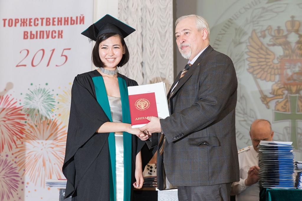 Выпускница и директор ИВТОБ М.В. Сильников
