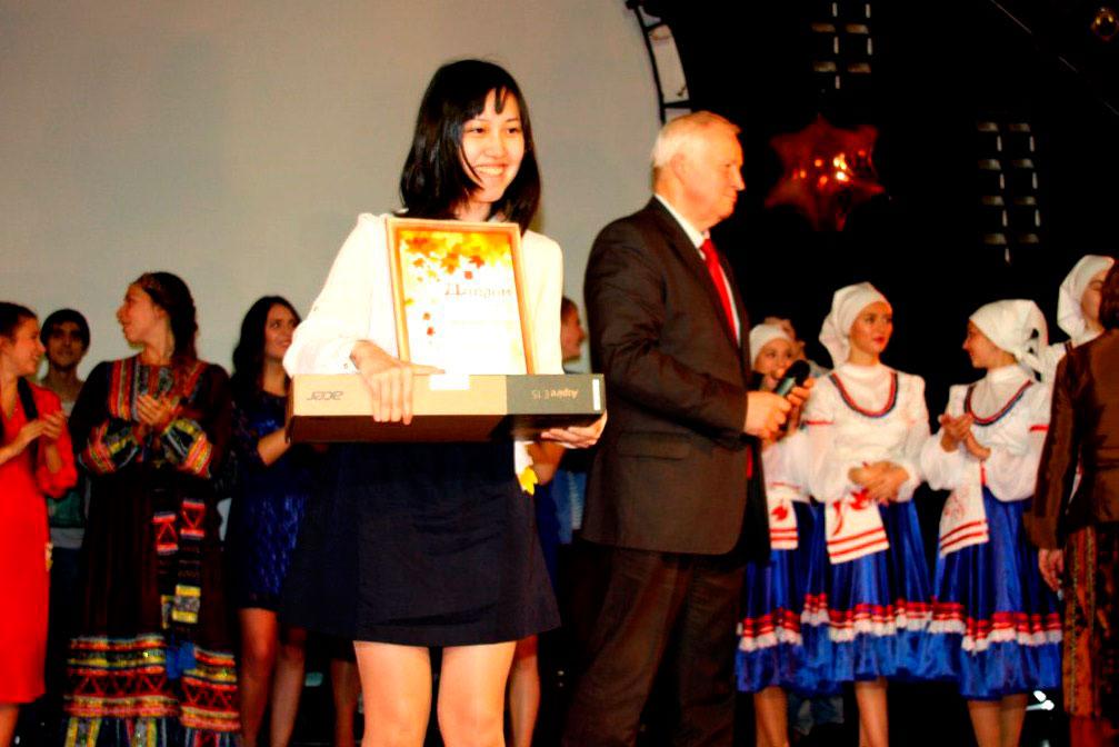 На международном фестивале студенческого творчества Золотая осень Майко заняла 1 место в номинации Инструментальное искусство