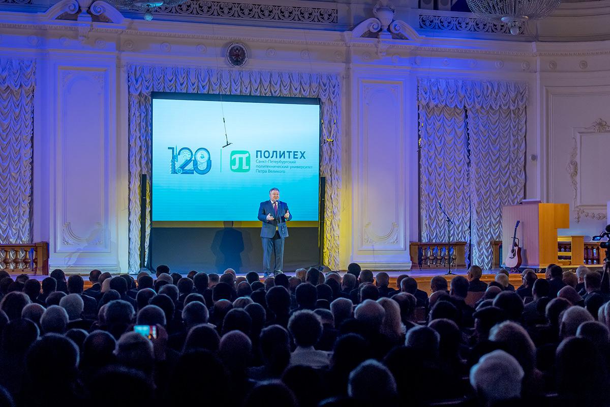 Ректор СПбПУ Андрей РУДСКОЙ поблагодарил всех за теплые слова и поздравления