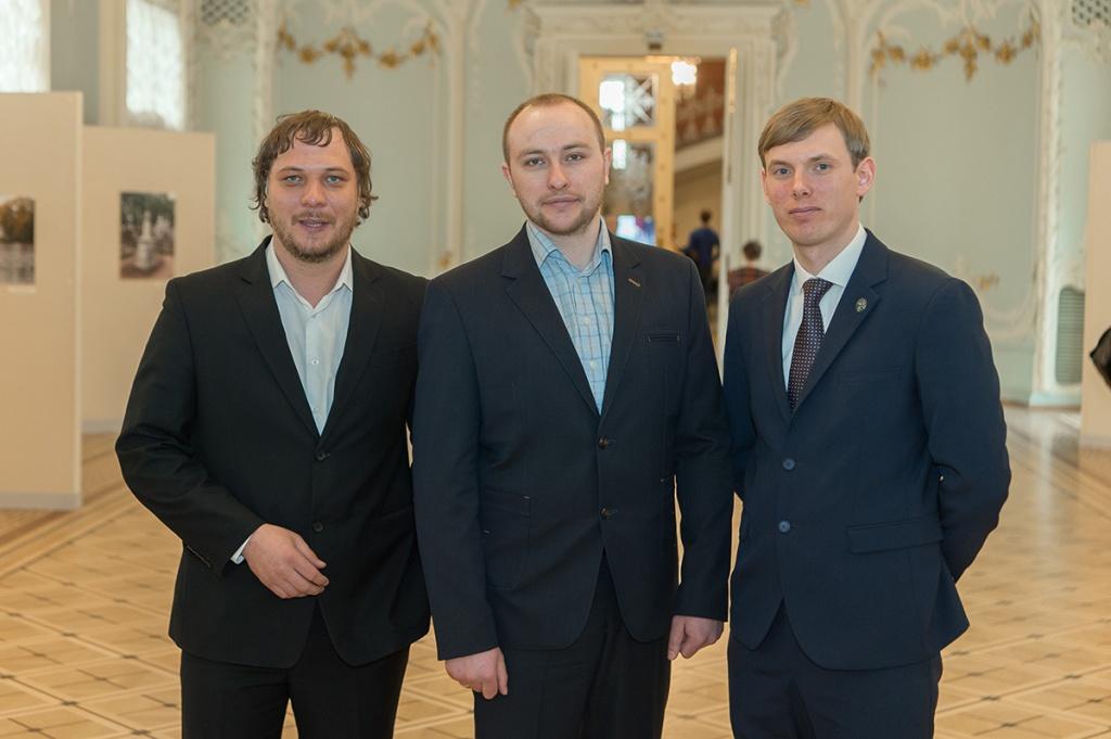 Слева направо - Андрей Кузин, Александр Дудинский и Александр Алин