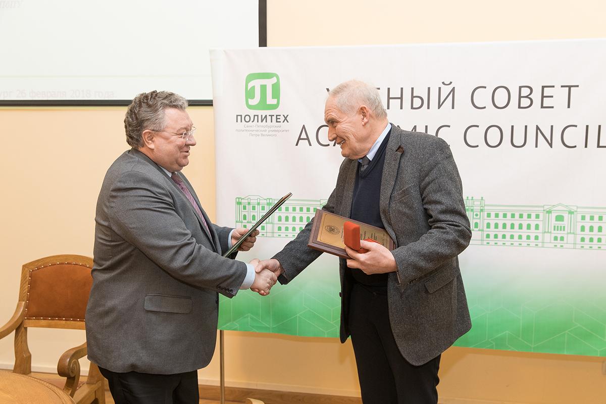 Почетным работником СПбПУ стал А.Н. Кобышев