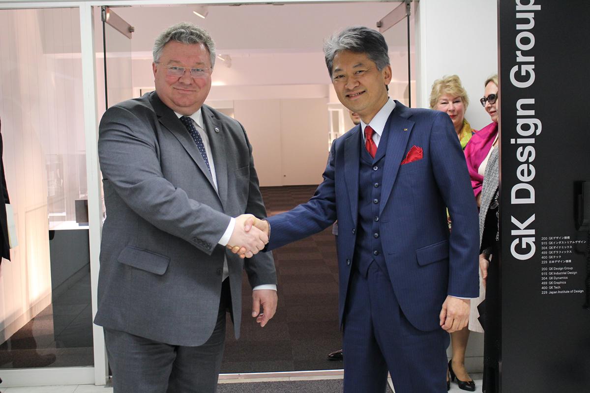 А.И. Рудской и президент компании GK Design Group Inc. Кацуо Танака
