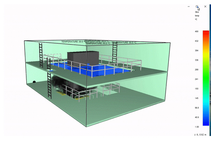 Модель испытательного комплекса «Огонек» (дым)