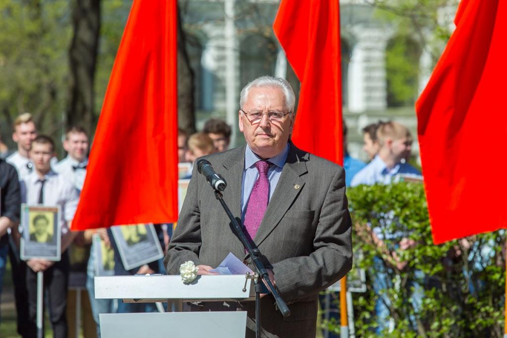 Открыл митинг президент СПбПУ М.П. Федоров
