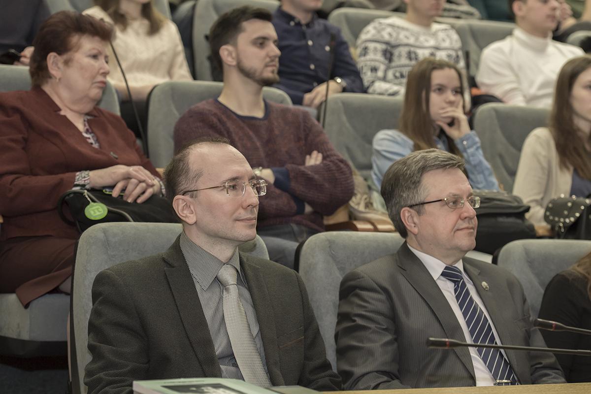 Во время лекции ведущего ученого в области систем стратегического управления Владимира Квинта