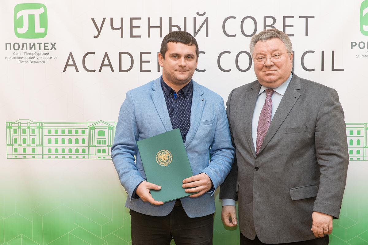 Благодарность ректора получил Д.В. Тихонов