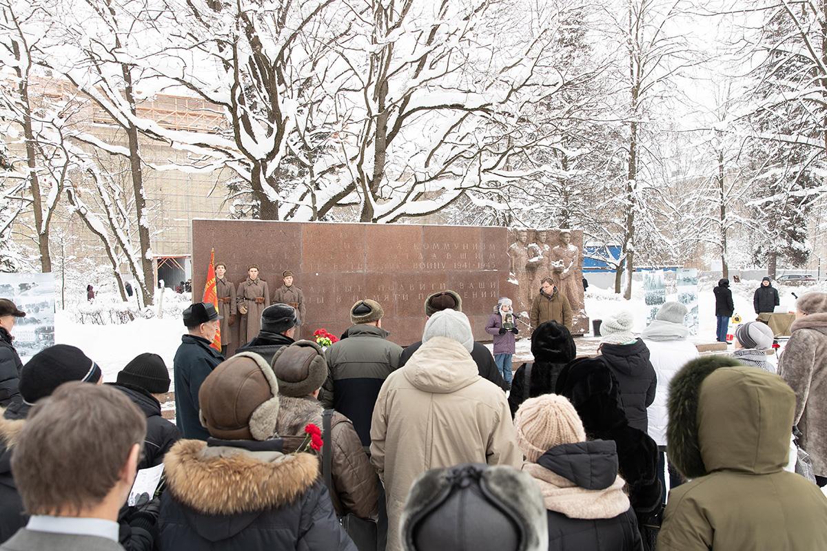 На митинге собрались ветераны и сотрудники Политеха