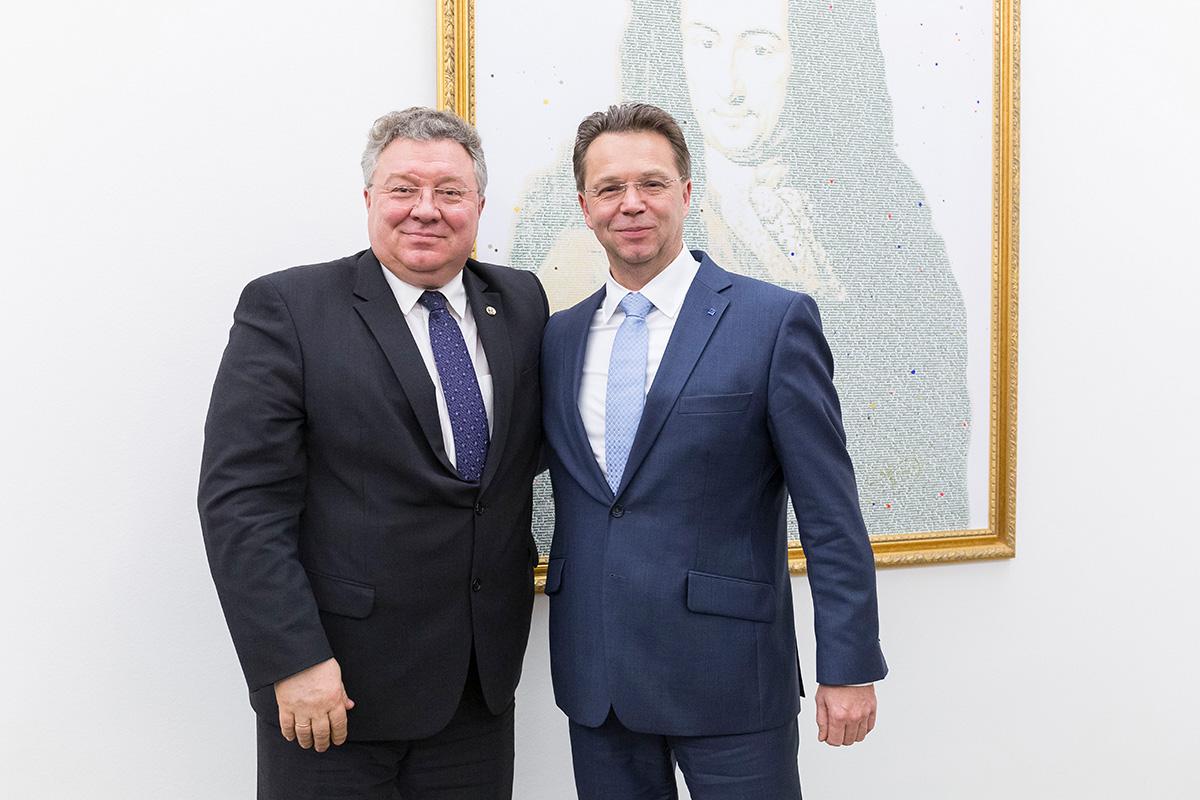 Ректор СПбПУ и президент ЛУГ обсудили планы на ближайшее будущее на отдельной официальной встрече