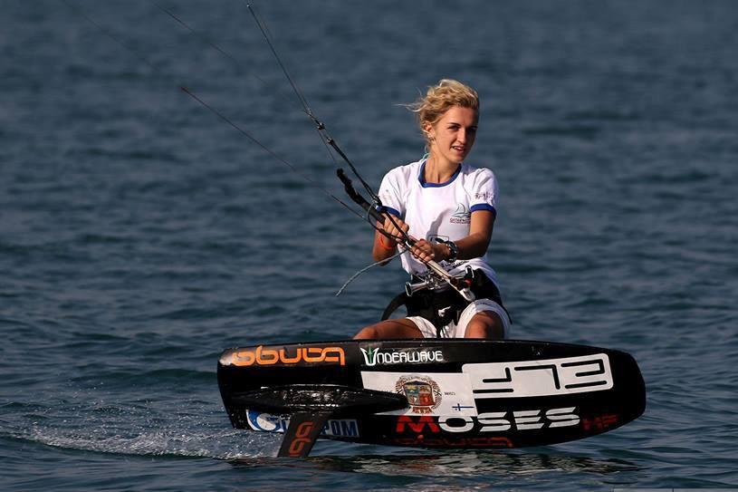 Студентка Политеха Елена Калинина - самая молодая чемпионка России по гоночному кайтбордингу