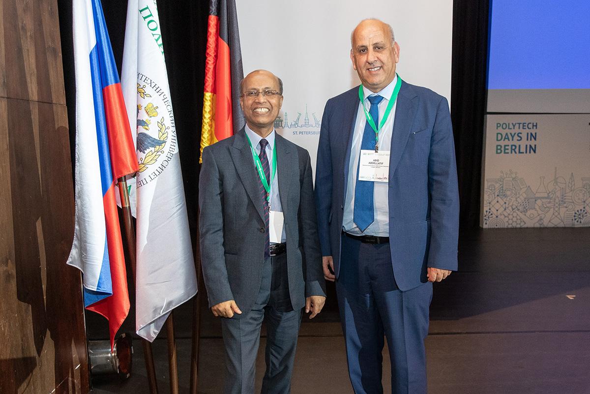 Слева направо – профессор Сити университета Лондона Сановар ХАН и Почетный генеральный консул Российской Федерации в городе Агадир Королевства Марокко г-н Абдельлатиф АБИД