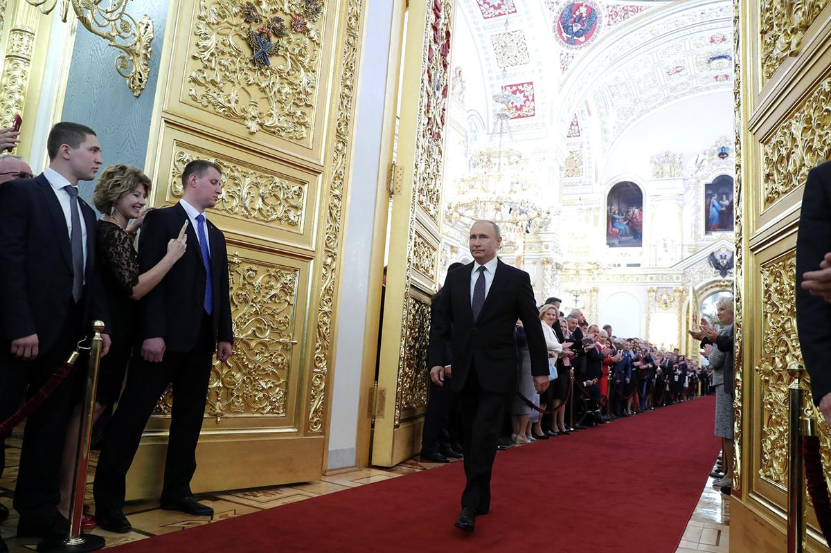 В Большом Кремлевском дворце прошла церемония инаугурации Президента РФ